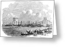 England: Boat Race, 1858 Greeting Card