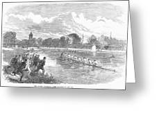 England: Boat Race, 1866 Greeting Card