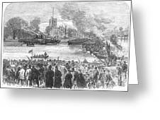 England: Boat Race, 1869 Greeting Card