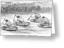 England: Coracle Race, 1881 Greeting Card