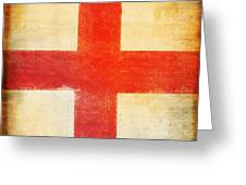 England Flag Greeting Card