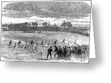 England: Foot Race, 1866 Greeting Card