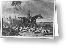 England: Fox Hunt, 1832 Greeting Card