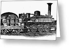 England: Locomotive, C1831 Greeting Card