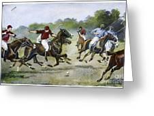 England: Polo, 1902 Greeting Card