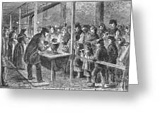 England: Soup Kitchen, 1862 Greeting Card