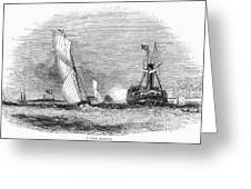 England: Yacht Race, 1843 Greeting Card