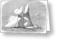 England: Yacht Race, 1868 Greeting Card