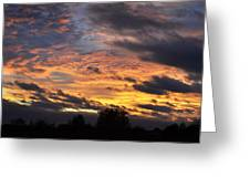 English Autumnal Sky Greeting Card