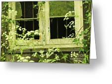English Countryside Window Greeting Card