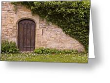 English Door And Ivy Greeting Card