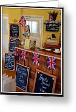 English Tearoom Greeting Card