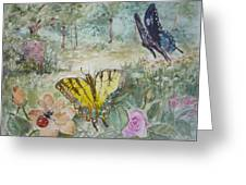 Enter The Garden Greeting Card by Dorothy Herron