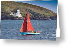 Entering Harbour Greeting Card
