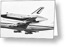 Enterprise Shuttle Nyc -black And White  Greeting Card
