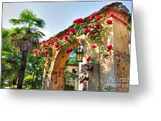 Entrance Arch With Flowers Greeting Card
