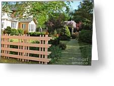 Entrance To A Victorian Garden Greeting Card