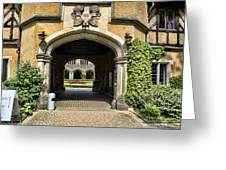 Entrance To Cecilienhof Palace Greeting Card