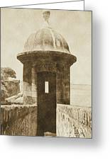 Entrance To Sentry Tower Castillo San Felipe Del Morro Fortress San Juan Puerto Rico Vintage Greeting Card