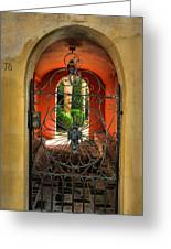 Entrance To Stucco Home Greeting Card by Steven Ainsworth