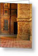 Entry To The Spanish Pavillion In Sevilla Spain Greeting Card