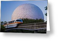 Epcot And Monorail Greeting Card