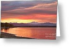 Epic August Sunset 2 Greeting Card