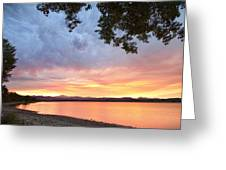 Epic August Sunset Greeting Card