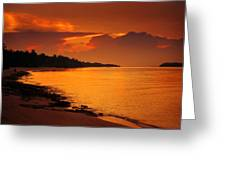 Epic Sunset In The Tropical Maldivian Island Greeting Card