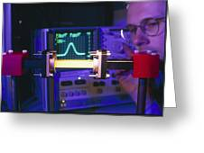 Equipment For Superluminal Microwaves Greeting Card by Volker Steger