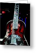 Eric Clampton's Guitar Greeting Card by David Alvarez