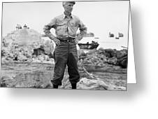Ernie Pyle (1900-1945). American Journalist. Photograph, C1942 Greeting Card
