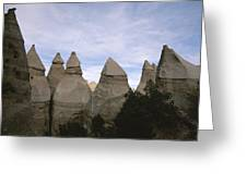 Erosion-chiseled Rock Formations Formed Greeting Card