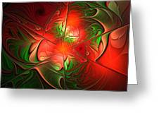 Eruption - Abstract Art Greeting Card