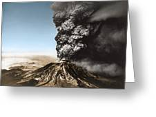 Eruption Of Mount St. Helens Greeting Card