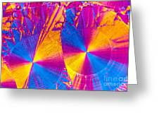 Erythromycin Crystal Greeting Card
