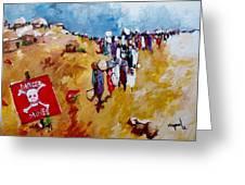 Escape.. Greeting Card by Negoud Dahab