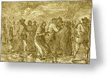 Escaping To Underground Railroad Greeting Card