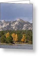 Estes Park Autumn Lake View Vertical Greeting Card