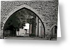 Estonia Old Town Wall Greeting Card