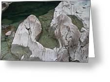 Etched Rock Water 5 Greeting Card