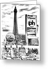 Etched Vegas Greeting Card