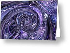 Eternal Depth Of Abstract And Chrome Fx  Greeting Card