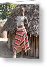 Ethiopia-south Tribesman Teenager No.1 Greeting Card