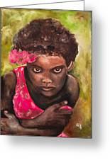 Etiopien Girl Greeting Card