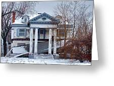 Euclid Avenue Mansion Greeting Card