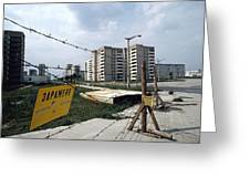 Evacuated Town Near Chernobyl, Ukraine Greeting Card