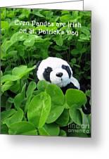 Even Pandas Are Irish On St. Patrick's Day Greeting Card