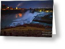 Evening American Falls Greeting Card