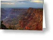 Evening At Desert View Greeting Card